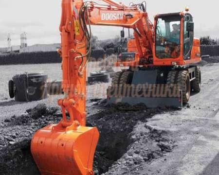 Экскаватор колёсный Doosan 180wv (ковш 1м3)